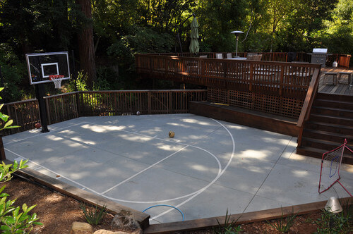 Spectacular Backyard Sports Court Ideas - Backyard basketball court ideas
